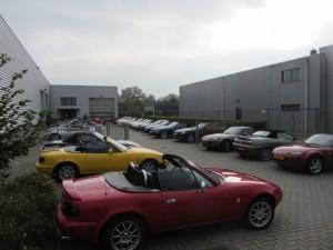 MX-5 club op bezoek bij Cabrio centrum Nederland